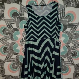 ☆3 for 15☆blue chevron dress